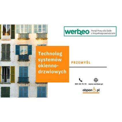 Technolog systemów okienno-drzwiowych - Przemyśl / z orzeczeniem