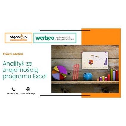 Analityk ze znajomością programu Excel - praca zdalna / z orzeczeniem