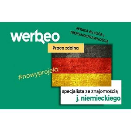 Specjalista ze znajomością języka niemieckiego praca zdalna