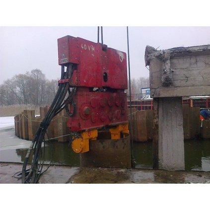 Używany zacisk do pali otwartych PVE 2 x 100T